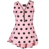 Armholes polka dots blacks